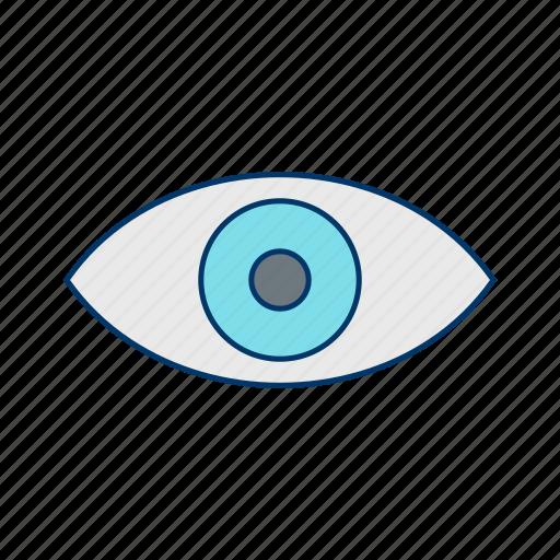 basic ui, concept, eye, view, vision icon