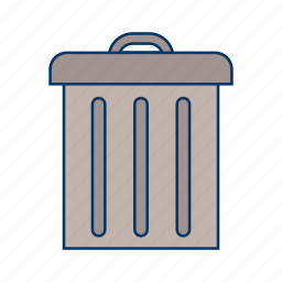 can, delete, empty, garbage, recycle, remove, trash icon