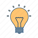 bulb, idea, light bulb icon
