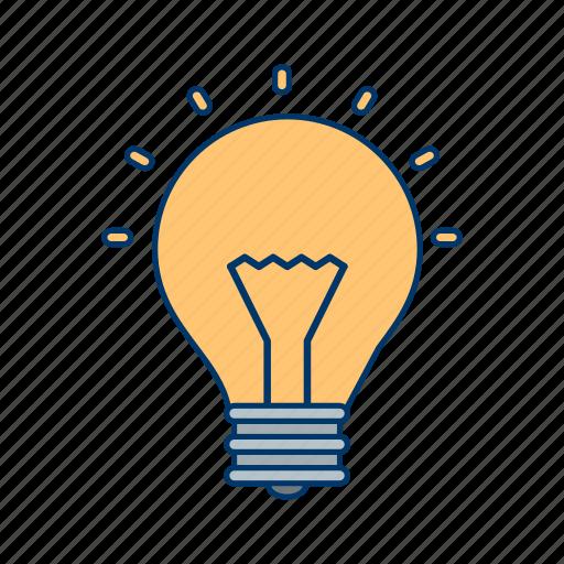 basic ui, bulb, idea, light, light bulb icon
