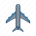 aeroplane, airplane, plane icon