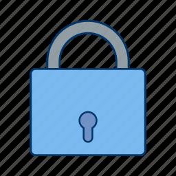 lock, pad lock, password, protected icon