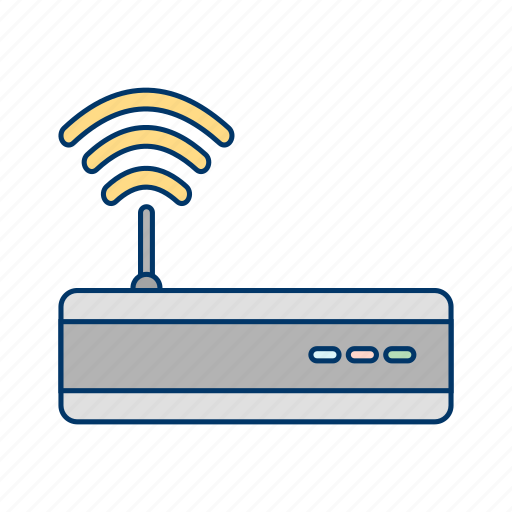 modem, signal, wifi router icon
