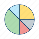 diagram, pie chart, statistics icon