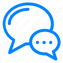 chat, comment, convertation, talk icon