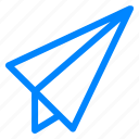 messeng, paper, plane, send, sending, sent icon