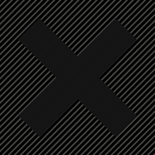cancel, cross, delete, multiply, no, not icon