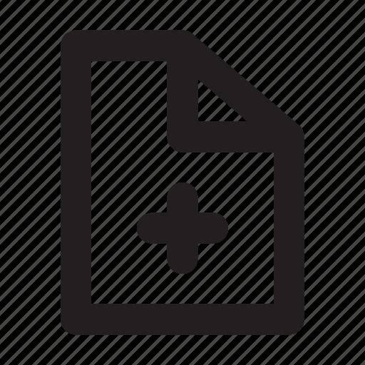 add, data, document, file, new, ui icon