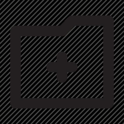 Archive, add, ui, file, new, folder, page icon