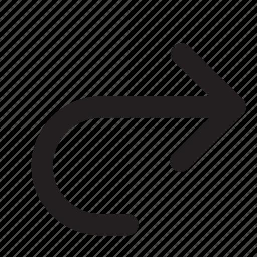 arrow, arrows, direction, redo, right, ui icon