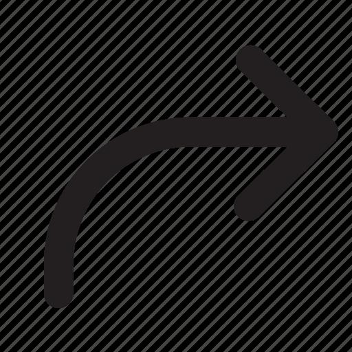 arrow, arrows, interface, redo, right, ui icon