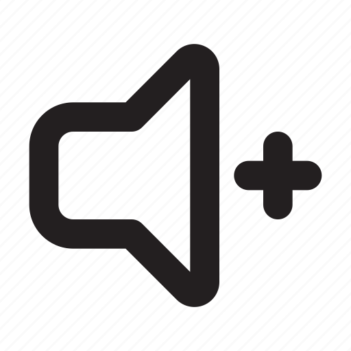 audio, media, sound, speaker, ui, up, volume icon