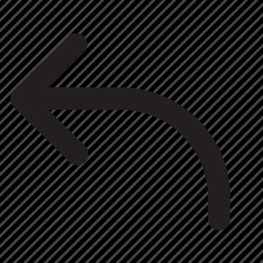 arrow, arrows, essential, interface, left, ui, undo icon