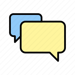 bubbles, chat, conversation, message icon