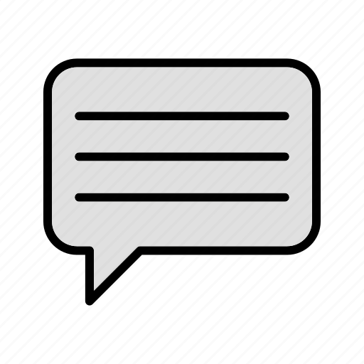 chat, comment, message, typing icon