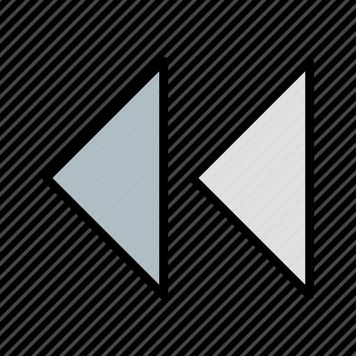 arrows, back, backward, click, fast, previous icon