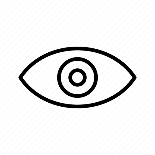 concept, eye, look, see, sight, view, vision icon