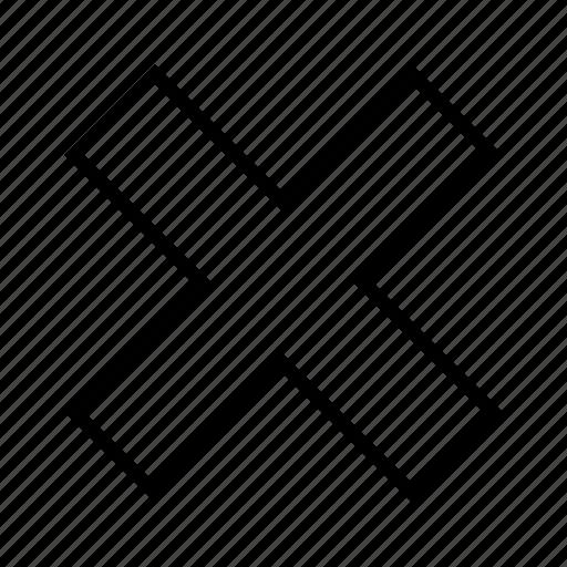 cancel, cross, no, vignette icon