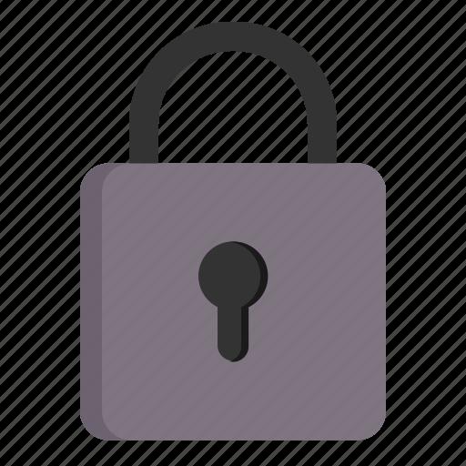 basic, lock, locked, password, secure, security, ui icon