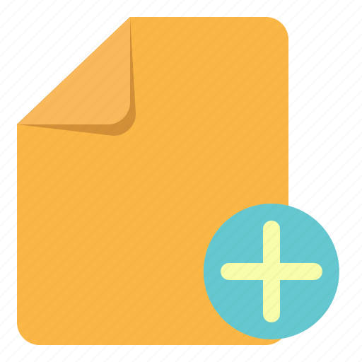 add, basic, document, note, paper, plus, ui icon