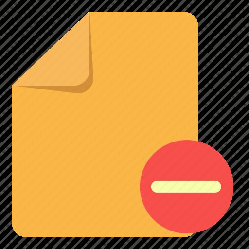 basic, delete, document, note, paper, remove, ui icon