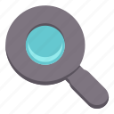 basic, find, glass, magnifier, search, ui icon