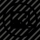 delete, image, photo, remove, rounded, ui icon
