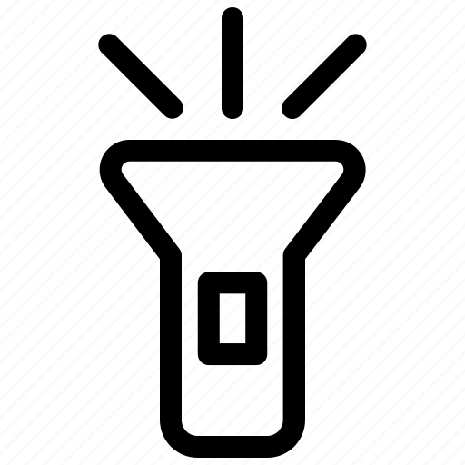 Flashlight, light, spotlight, torch icon - Download on Iconfinder
