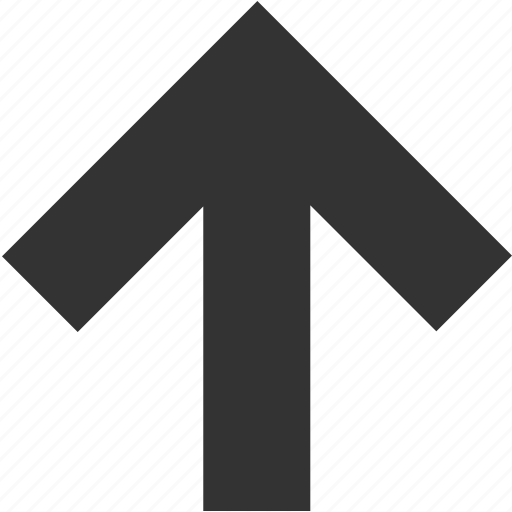 arrow, direction, north, top, up, upload, upward icon