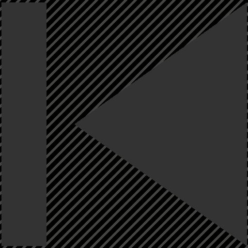 arrow, direction, left, move, multimedia, play backward, previous icon