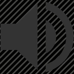 full volume, loud, multimedia, music, sound, speaker, volume icon