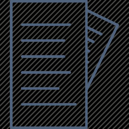 bill, copy, document, duplicate, paper icon