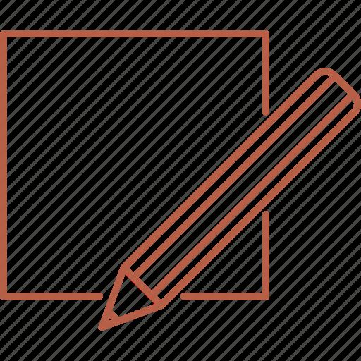 checkbox, edit, paper, pen, pencil icon