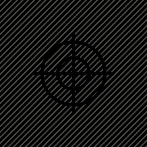 achievement, aim, designer, goal, intention, sniper, target icon