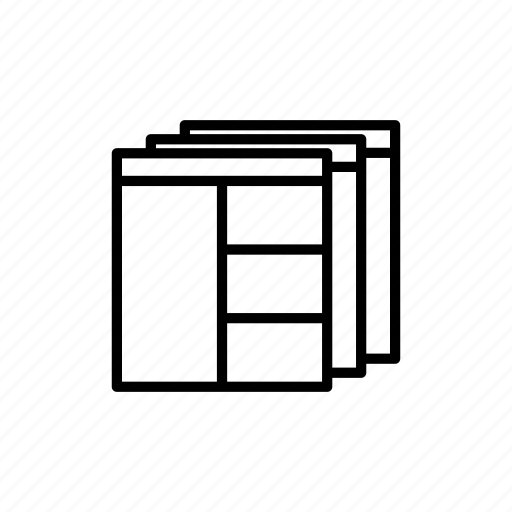 designer, flow, pages, prototype, webpage, website, wireframe icon