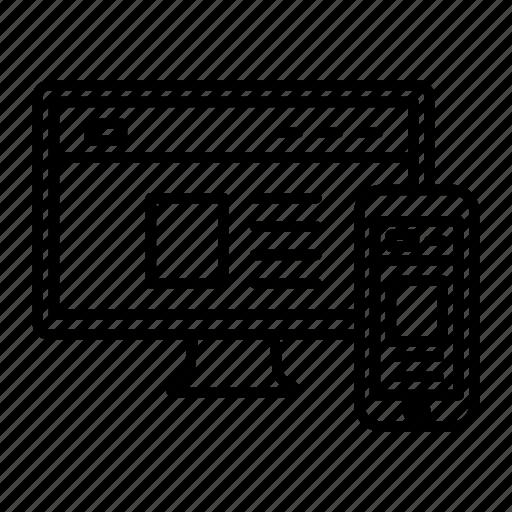 adaptive, bootstrap, designer, fluid, responsive, webpage, website icon