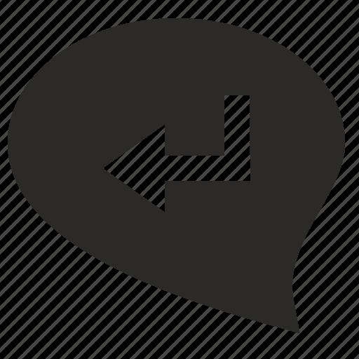 accept, comment, complete, dialog, enter, message, ok icon
