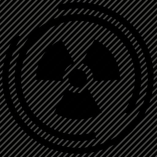 chemicals, danger, hazard, poison, radiation, radioactive icon