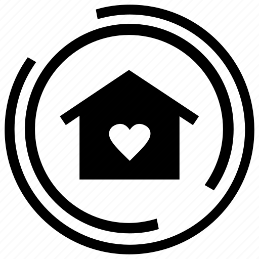 heart, home, home button, home page, home sweet home icon