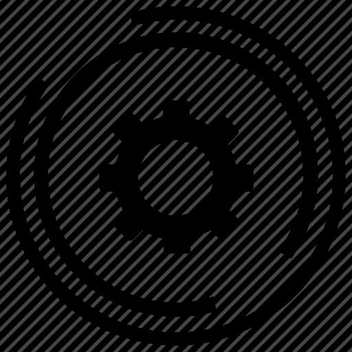 business service, cog, optimization, service, service provider, support icon