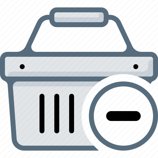 basket, buy, cart, delete, ecommerce, minus, shop icon