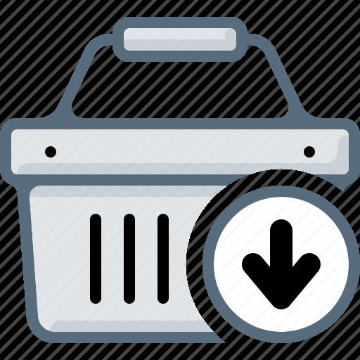 add, arrow, basket, buy, cart, download, shop icon