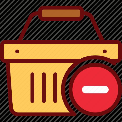 basket, buy, cart, delete, minus, shop, shopping icon