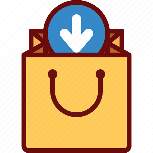 add, arrow, bag, download, ecommerce, shop icon