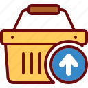 basket, buy, cart, remove, shop, shopping, upload icon