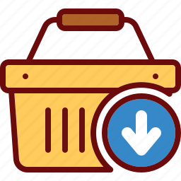 add, arrow, basket, cart, download, shop, shopping icon