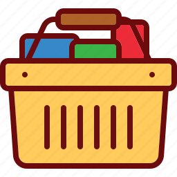 basket, buy, cart, full, goods, shop, shopping icon