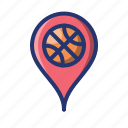 basket, basketball, location, place, sport icon