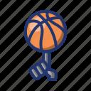 ball, basket, basketball, freestyle, game, player icon