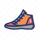 apparel, ball, basket, basketball, footwear, game, shoes icon